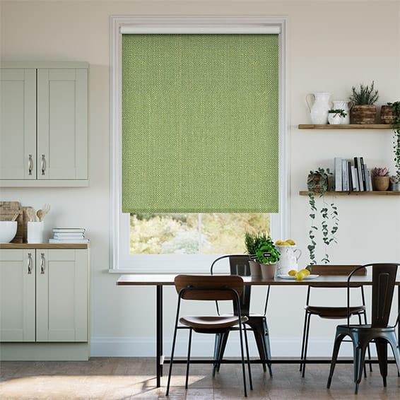 Choices Paleo Linen Spring Green Roller Blind