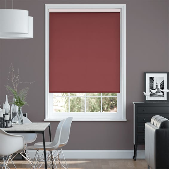 Choices Paleo Linen Strawberry  Roller Blind