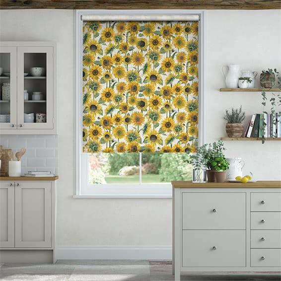 Choices Sunflowers Yellow Roller Blind