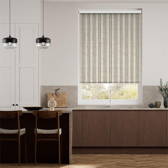 Choices Truro Stripe Linen Sandstone Roller Blind