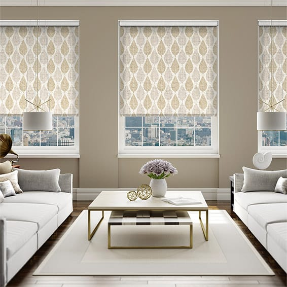 Choices Winter Leaf Linen Hazelwood Roller Blind