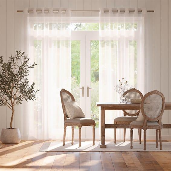 Cirrus Voile Bright White Curtains