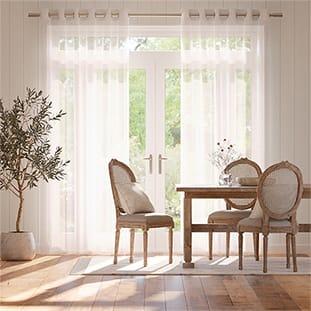 Cirrus Voile Bright White Curtains thumbnail image