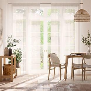 Cirrus Voile Cotton White Curtains thumbnail image