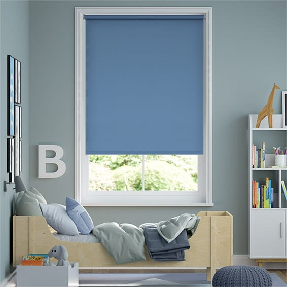 City Admiral Blue Roller Blind