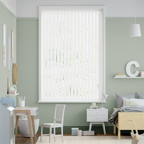 City Classic White Vertical Blind