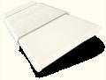 Vintage White and Soft Cotton Wooden Blind - 50mm Slat slat image