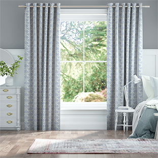 Clematis Ombre Blue Curtains thumbnail image
