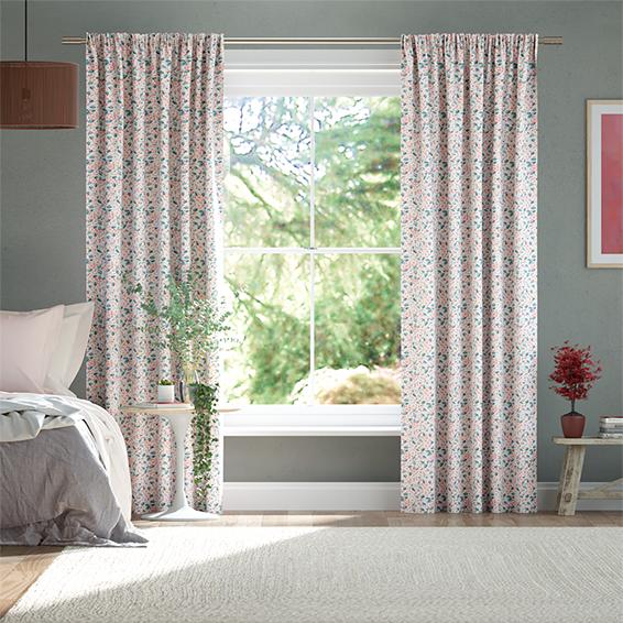 Climbing Blossom Blush Curtains