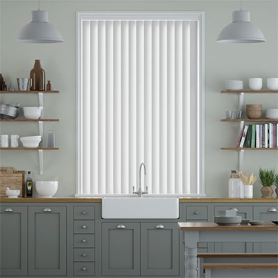 Clinton Ice White Vertical Blind