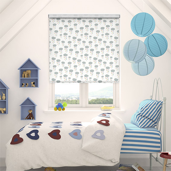 Cloud Burst Blackout Rainbow Roller Blind