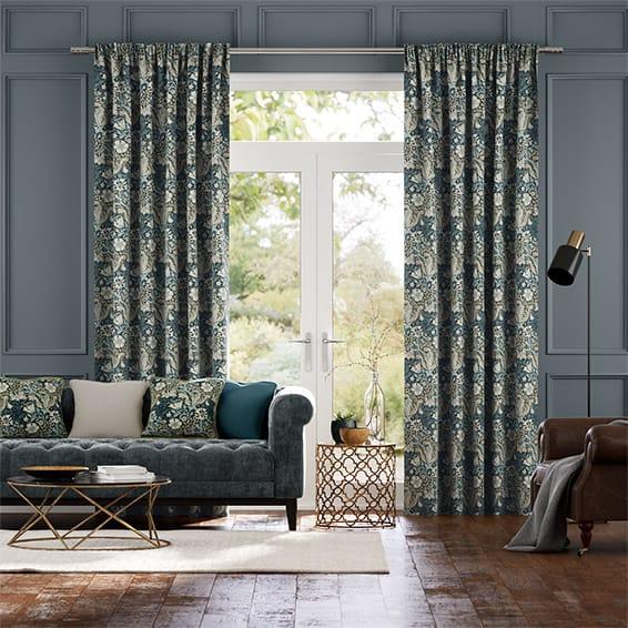 William Morris Compton Midnight Curtains