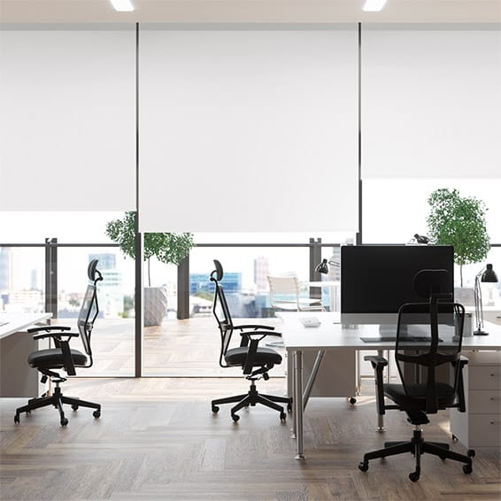 Contract Capital Blackout Bright White Roller Blind