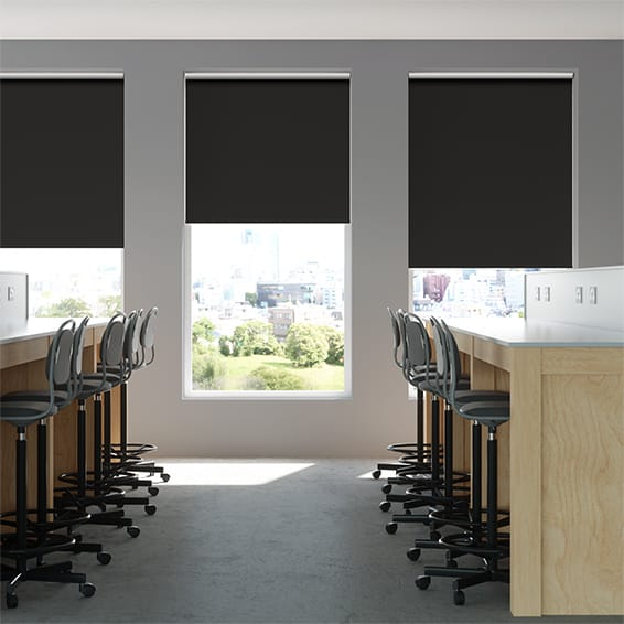 Contract Capital Blackout Ebony Roller Blind