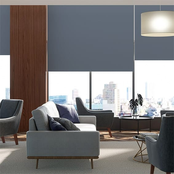 Contract Capital Blackout Primary Blue Roller Blind