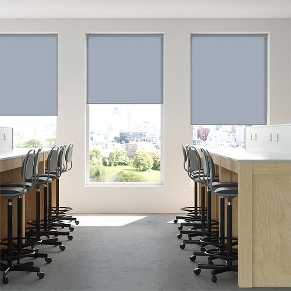 Contract Capital Arctic Blue Roller Blind