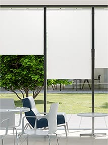 Contract Capital Bright White Roller Blind thumbnail image