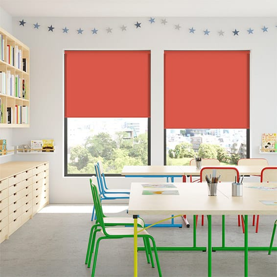 Contract Capital Candy Red Roller Blind