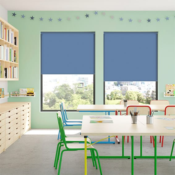 Contract City Admiral Blue Roller Blind