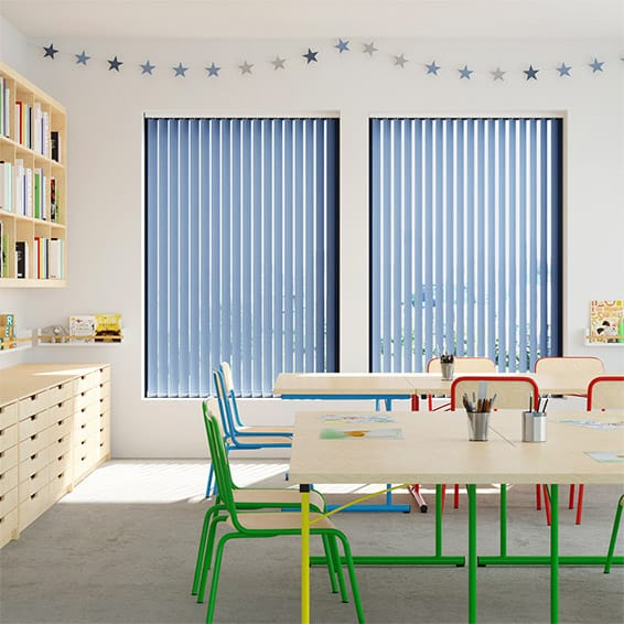 Contract City Admiral Blue Vertical Blind
