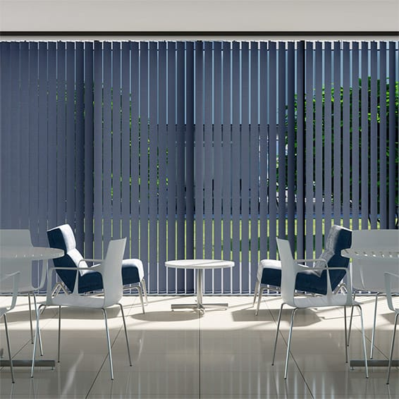 Contract City Blue Denim Vertical Blind