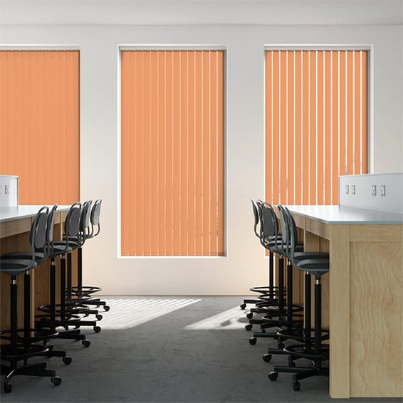 Contract City Cantaloupe Orange Vertical Blind