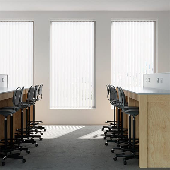 Contract City Classic White Vertical Blind