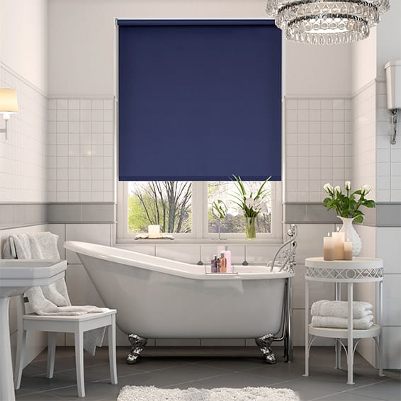 Cordoba Blackout Cosmic Blue Roller Blind