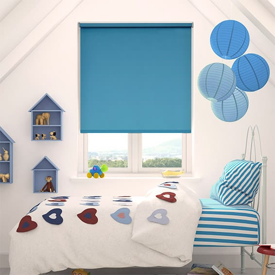 Cordoba Blackout Fantasy Blue Roller Blind