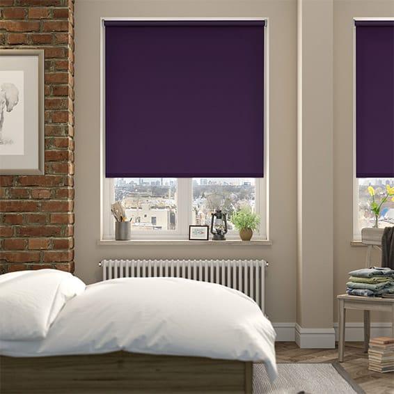 Cordoba Blackout Purple Roller Blind