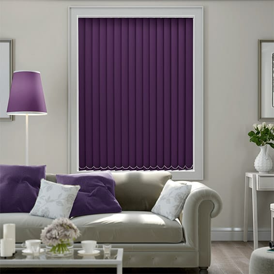 Cordoba Purple Blackout  Vertical Blind