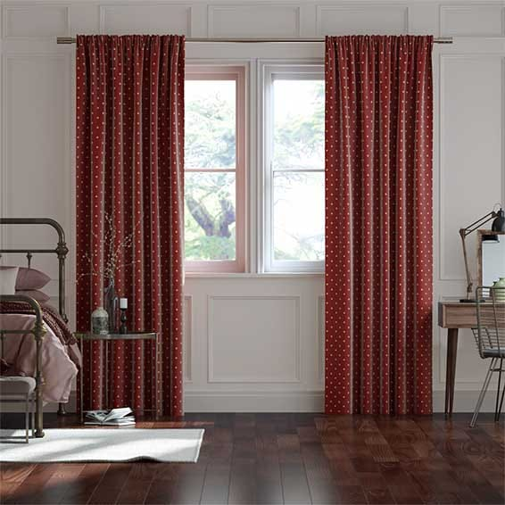 Coronation Scarlet Curtains
