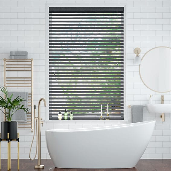 Cosmopolitan Anchor Grey Wooden Blind - 50mm Slat