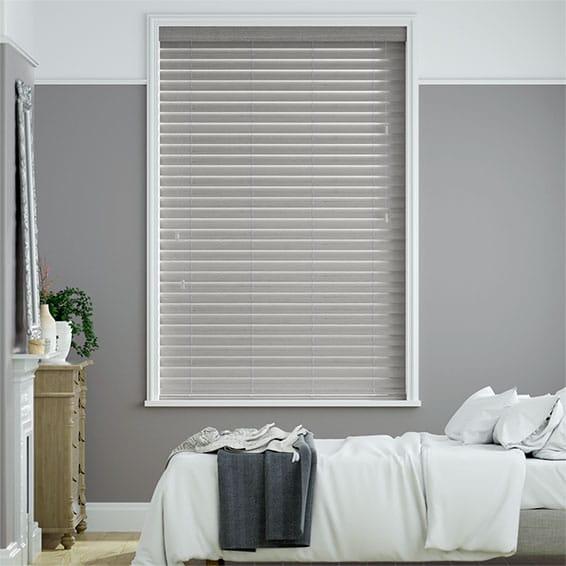 Cosmopolitan Seattle Grey Wooden Blind - 50mm Slat
