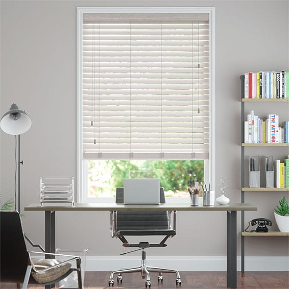 Cosmopolitan White Mist Wooden Blind - 50mm Slat