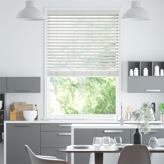 Cosmopolitan Whitewash Wooden Blind - 50mm Slat
