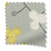 Country Blossom Linen Ashen Gold Roman Blind sample image
