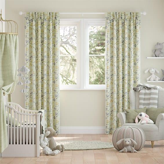 Country Blossom Linen Lemon Tart Curtains