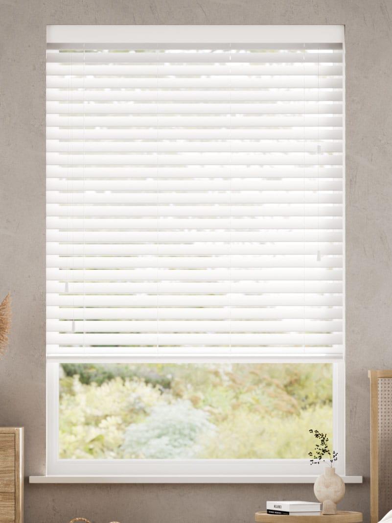 Crisp White Wooden Blind thumbnail image
