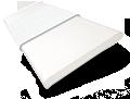 Crisp White & Snowflake Faux Wood Blind - 50mm Slat sample image