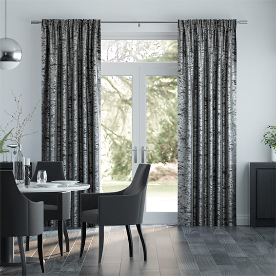 Crushed Velvet Storm Curtains