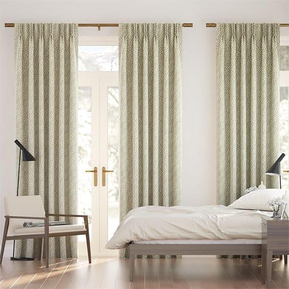 Daisy Spot Grey Curtains
