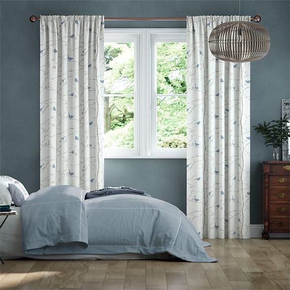 Dawn Chorus Mineral Blue Curtains