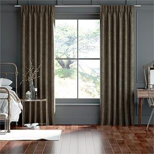 Delphi Chenille Weave Peppercorn Curtains thumbnail image