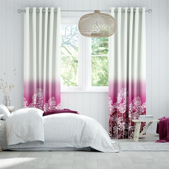 Dill Fuchsia Curtains