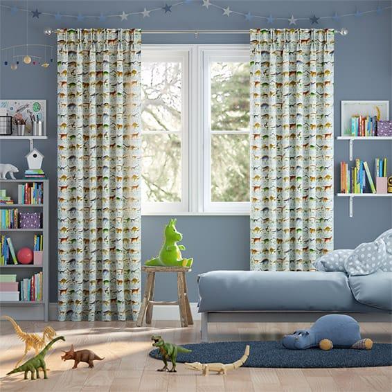 Dinosaurs Cream Curtains