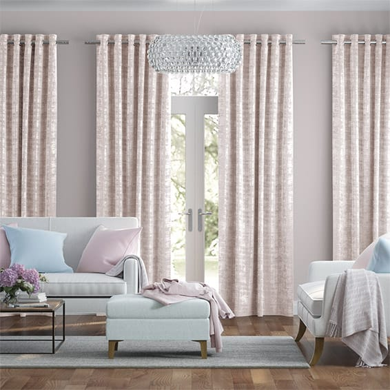 Dorchester Velvet Blush Curtains