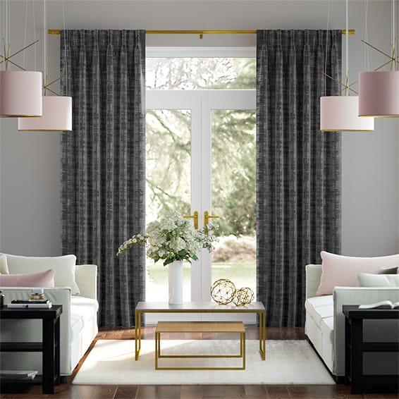 Dorchester Velvet Charcoal Curtains