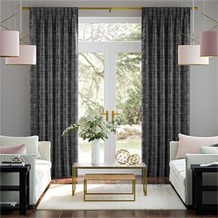 Dorchester Velvet Charcoal Curtains thumbnail image