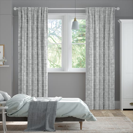 Dorchester Velvet Grey Curtains